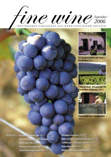 FineWine sept06.indd - Fine wine magazine