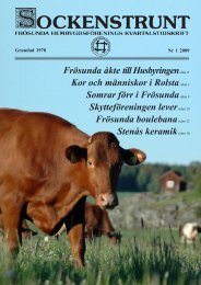 2009 nummer 1 - Frösunda hembygdsförening