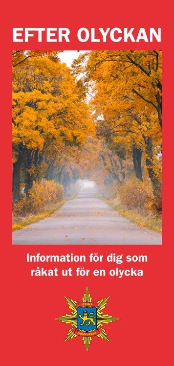"""Broschyr """"Efter olyckan"""" - Uppsala kommun"""