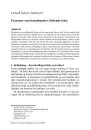 Lisbeth Falster Jakobsen* Frasemer som konstituenter i løbende tekst