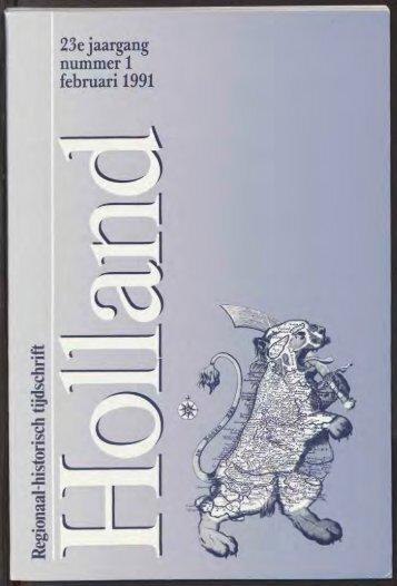 23e jaargang nummer 1 februari 1991 - Holland Historisch Tijdschrift