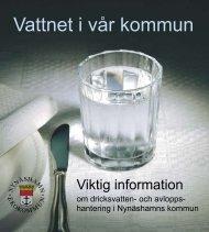 Vattnet i vår kommun - Nynäshamns kommun