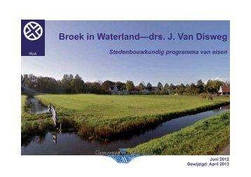 bijlage 2 - Gemeente Waterland