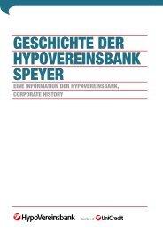GESCHICHTE DER HYPOVEREINSBANK SPEYER