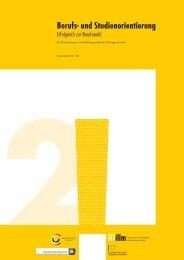(2011). Berufs- und Studienorientierung. Erfolgreich zur Berufswahl