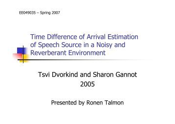 Ronen talmon thesis