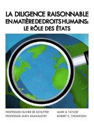 La Diligence Raisonnable en Matière de Droits Humains : Le Rôle ...