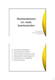 WS19 Klachtenbrieven beantwoorden - Kortom