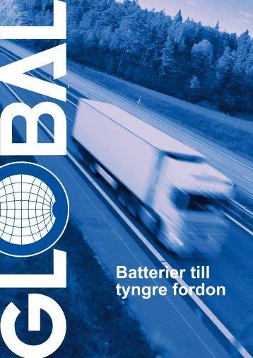 Batterier till tyngre fordon - Global Batterier AB