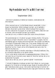 Nyhedsbrev fra Billerne september 2011