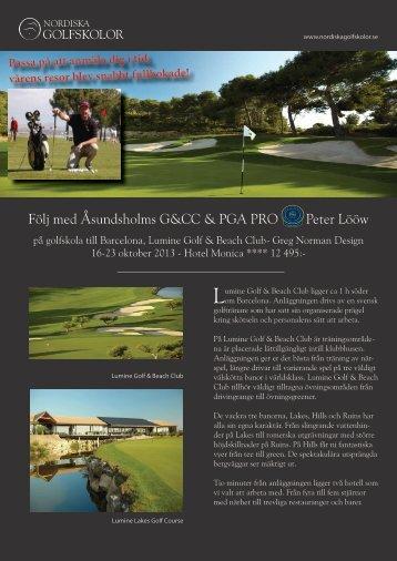 Läs inbjudan här (PDF) - Åsundsholm Golf & Country Club
