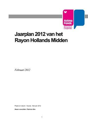 Jaarplan 2012 van het Rayon Hollands Midden