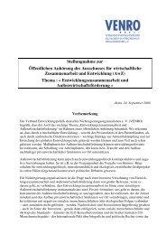 Entwicklungszusammenarbeit und Außenwirtschaftsförderung - Venro