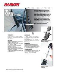 Harken MKIV under-dæk rulle-/rebesystem - Columbus Marine