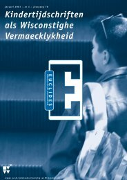 0pm•Euclides 76/4 - Nederlandse Vereniging van Wiskundeleraren