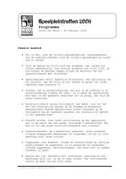 Speelpleintreffen 2008 - Vlaamse Dienst Speelpleinwerk