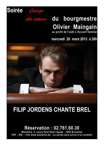 Soirée Coup de cœur du bourgmestre Olivier Maingain FILIP ...