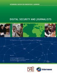 DIGITAL SECURITY AND JOURNALISTS - Internews