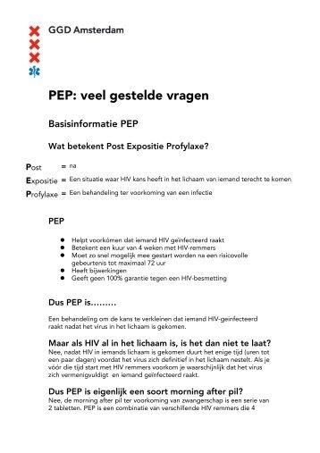 PEP veel gestelde vragen v. maart 2010 - GGD Amsterdam