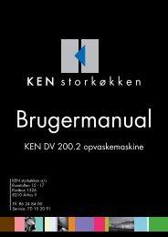 Operating instructions - KEN Storkøkken