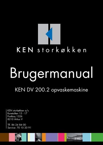 Operating instructions - KEN Storkøkken