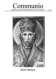 Sankt Nikolaus. - Liberala katolska kyrkan