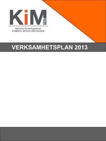 Ladda ner verksamhetsplanen för 2013 här - KiM net