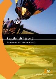 'Reacties uit het veld' [pdf]