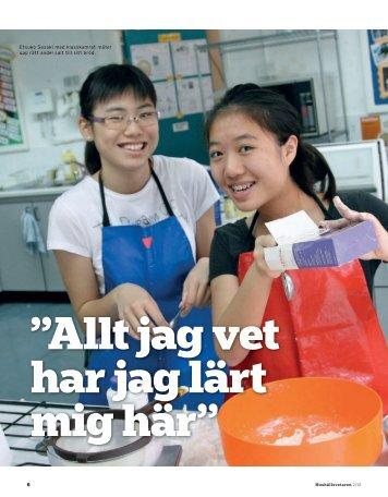 etsuko Sasaki med klasskamrat mäter upp rätt andel salt ... - InBeijing