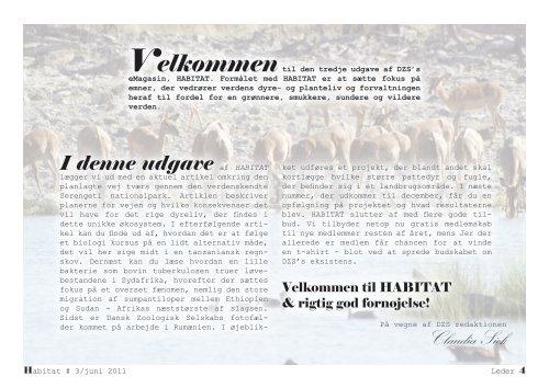 HABITAT-3_Juni-2011 - Danish Zoological Society