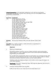 Vastgestelde besluitenlijst bijzondere raad 14 januari 2013