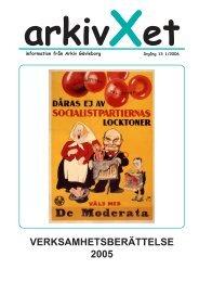 Nr 1/2006 Verksamhetsberättelse - Arkiv Gävleborg