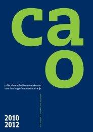 Cao HBO 2010 - 2012 - Vereniging Hogescholen