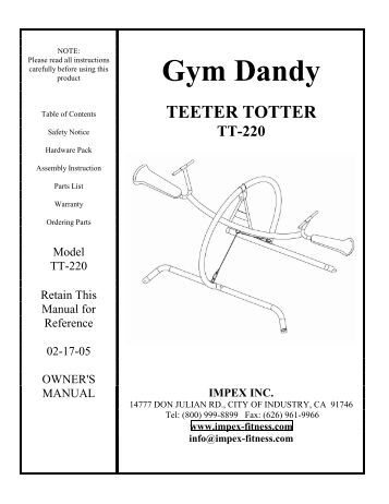 marcy by impex home gym manual