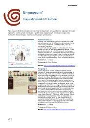 E-museum® Inspirationsark til Historie