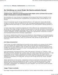 Zur Verhaftung von Jovan Divjak: Der falsche ... - Florian Bieber