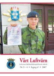 Vårt luftvärn nr 3-4/2007 - Luftvärnsförbundet