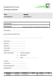 Anmeldung zur Aufnahme - St. Anna-Hilfe