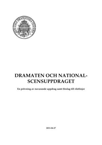 rapport (pdf) - Dramaten