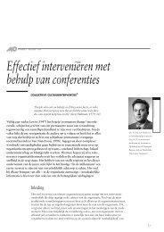 Effectief interveniëren met behulp van conferenties - Gert Jan Schop