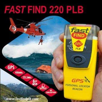 Fast-Find PLB 220 svensk manual - Cordland Marine