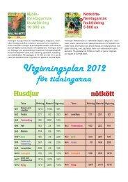 Utgivningsplan 2012 - Ad 4 you media AB