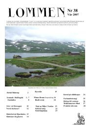 Bidrag til Lommen - Nordisk Kulturlandskapsforbund