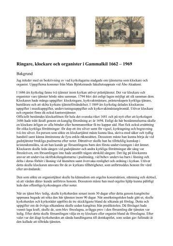 Ringare, klockare och organister i Gammalkil 1662 – 1969
