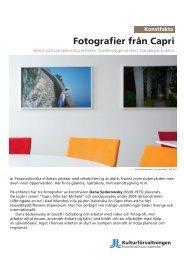 Fotografier från Capri - Webbhotell SLL - Stockholms läns landsting
