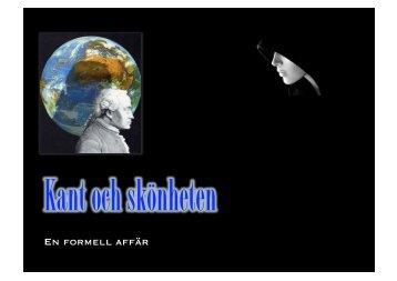 Föreläsning 2. Kant och skönheten (PDF 5.3 MB - New window)