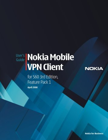 Guide Nokia Mobile VPN Client