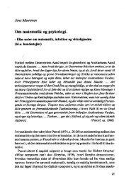 Om matematik og psykologi •