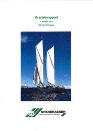 1. kvartalsrapport 2011(pdf) - Arendal og Omegns Sparekasse