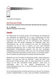 Der Preis des Profits - Veranstaltungen - Universität Klagenfurt